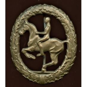 """1957 Horseman's badge in bronze (""""Reiter Bronze"""") by Steinhauer & Lück"""