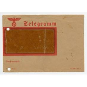 Original Third Reich Telegram envelope