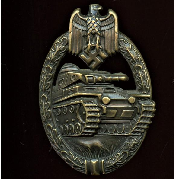 Panzer assault badge in bronze by Steinhauer & Lück
