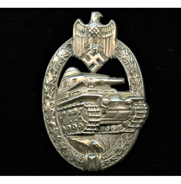 "Panzer assault badge in silver ""A.S."" in triangle ""3rd pattern"""