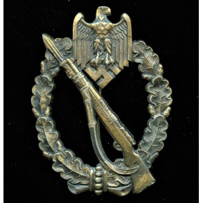 Infantry assault badge in bronze by Wilhelm Deumer