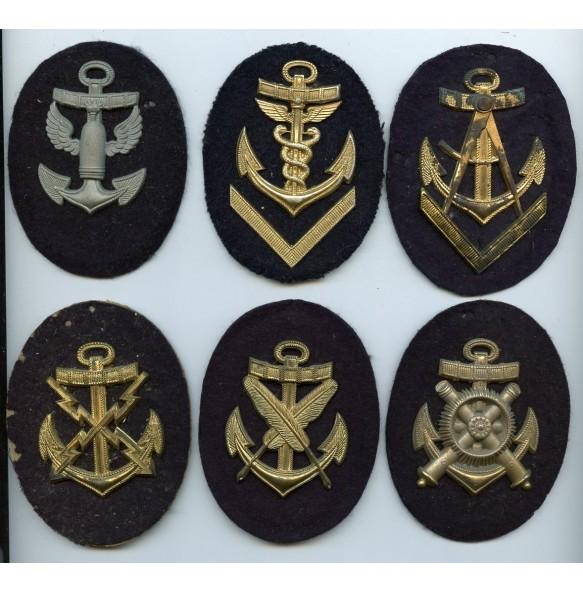 Small collection of metal Kriegsmarine proficiency badges