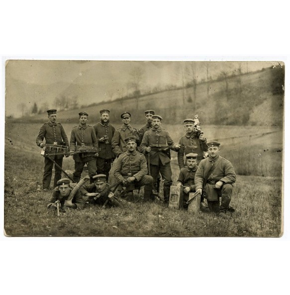 WW1 group photo German machine gun team