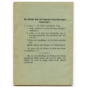 Luftwaffe shooting booklet to B. Morbacher