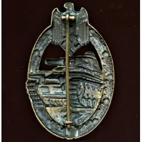 Panzer assault badge in bronze by Karl Wurster K.G