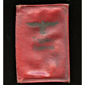 "Red cover ""Truppen-Ausweis"" for passport with national eagle"