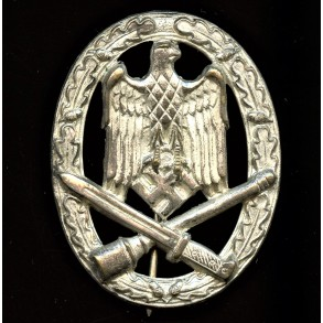 General Assault Badge in silver by Hymmen & Co