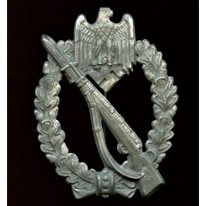 Infantry assault badge in silver by Hermann Aurich