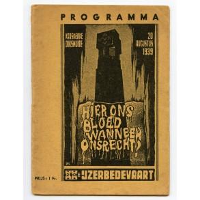 """Period book: """"PROGRAMMA 20ste IJZERBEDEVAART"""""""