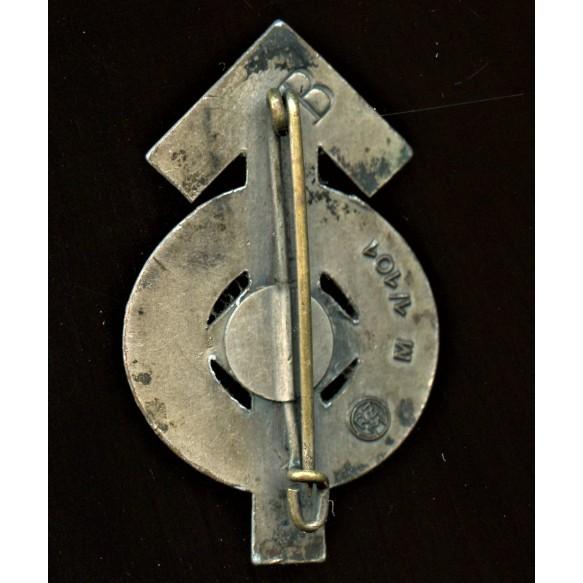HJ Proficiency Badge in Silver by Gustav Brehmer
