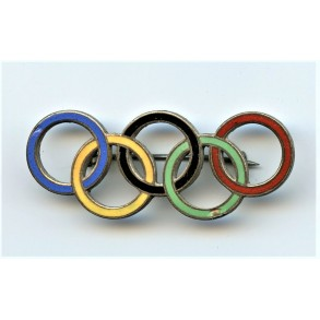 1936 Olympic rings broach