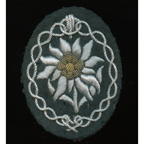 GJ bullion Edelweiss arm patch for officers