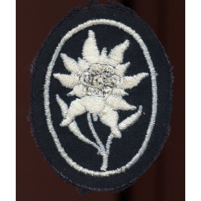 GJ Edelweiss arm patch for SS troops