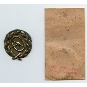 Army drivers badge in bronze + package