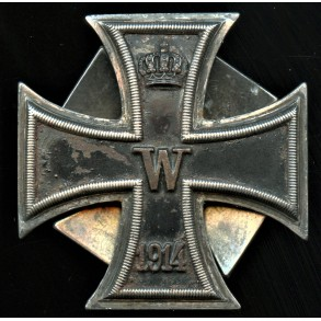 "1914 iron cross 1st class by P. Meybauer ""800"" ""PM"" double screw variant"