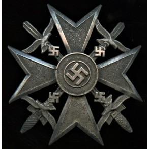 Spanish cross in silver with swords by O. Schickle
