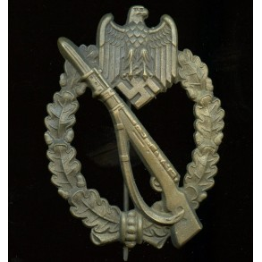 "Infantry assault badge in bronze by Gustav Brehmer ""Egghead"""