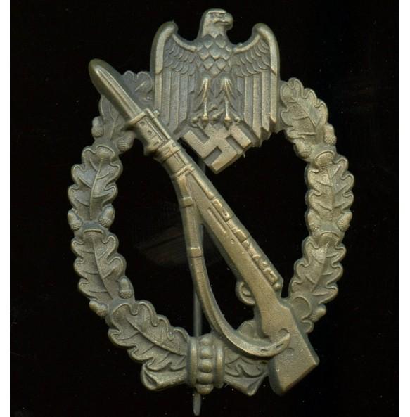 "Infantry assault badge in bronze by Gustav Brehmer ""Egghead"""