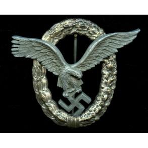 Luftwaffe pilot badge by Friedrich Linden, tombak coated variant