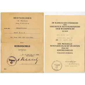 Kuban shield award document set