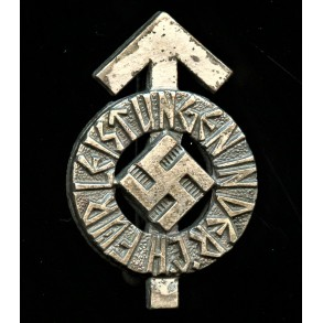 "HJ proficiency badge miniature in silver by Karl Wurster ""M1/34"""