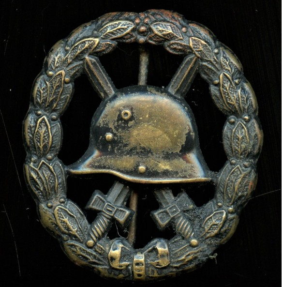 WW1 wound badge in black, cut out variant by O. Schickle