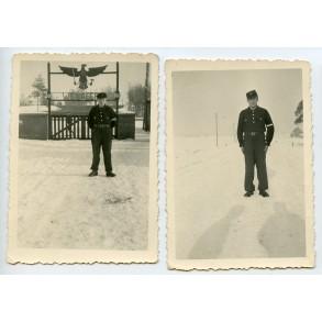 "2 HJ photos in black uniform at the ""Wehrertüchtigungslager (WE-Lager)"""