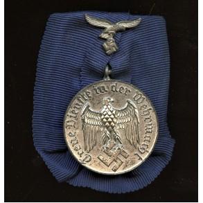 Luftwaffe 4 year service medal, single mounted
