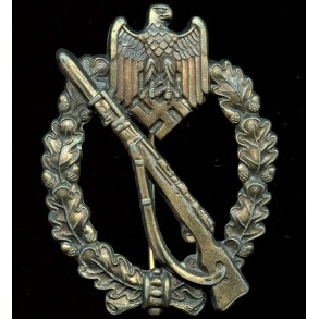 Infantry assault badge in bronze by F.W. Assmann & Sohn