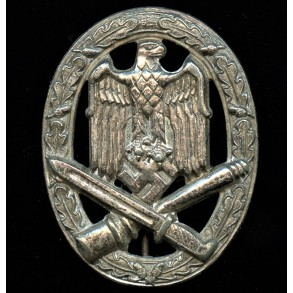 """General assault badge by Karl Wurster K.G. """"small w"""""""