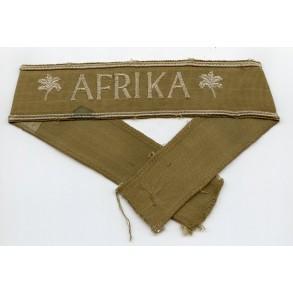 Afrika cuff title, late war canvas variant