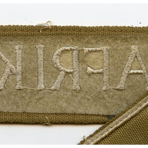 Afrika cuff title, late war canvas variant