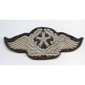 """Luftwaffe proficiency arm patch for non flying LW-staffmembers  """"Flugzeugpersonal"""""""