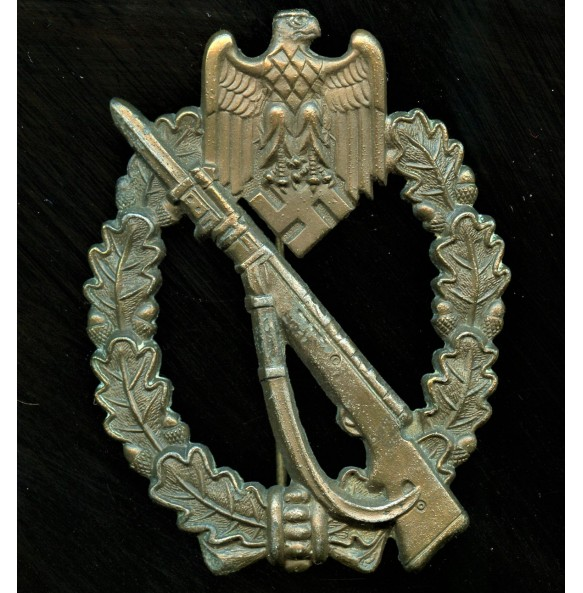 """Infantry assault badge in bronze """"A.S."""" in triangle"""