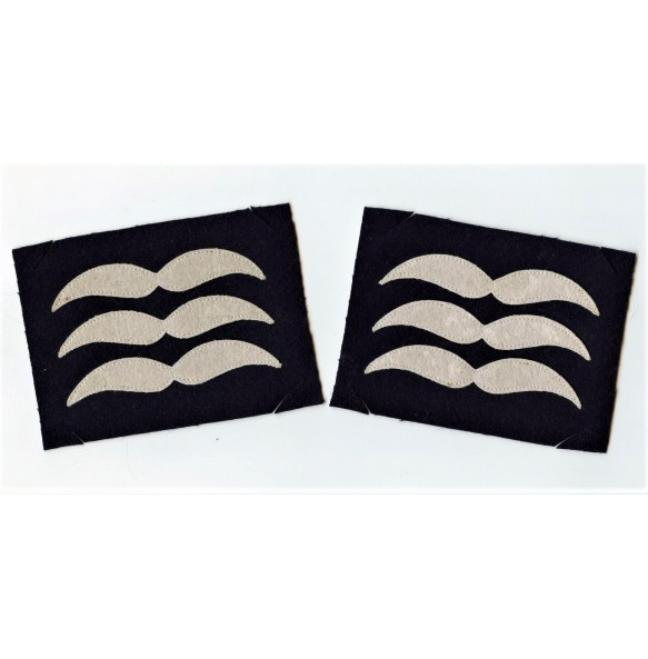 "Set of Luftwaffe ""Feldwebel"" rank patches for flight suit."