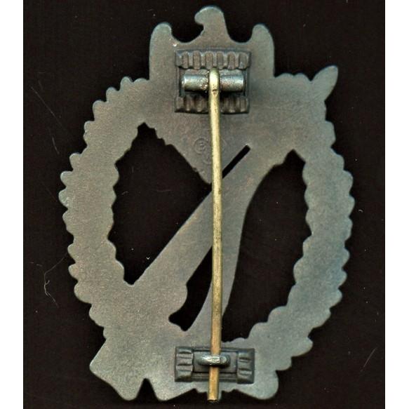 """Infantry assault badge in bronze by Brüder Schneider A.G. """"BSW"""", waffle crimp"""