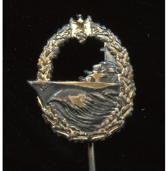 Kriegsmarine destroyer badge 16mm miniature
