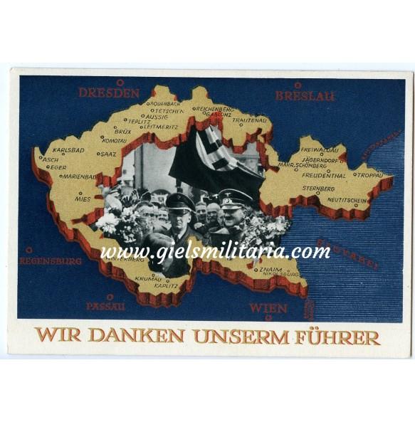 "Postcard ""Wir danken unserm Führer"""