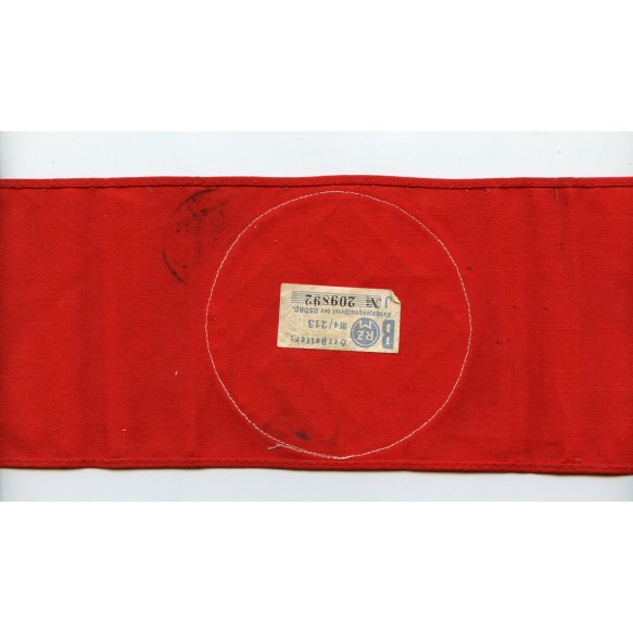 Party armband with period designation stamp + RZM label