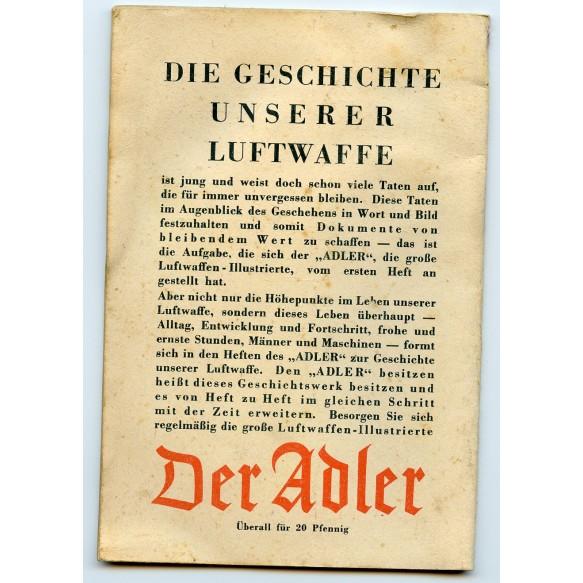 "Period song book: ""Liederbuches der Luftwaffe"" from Adler"