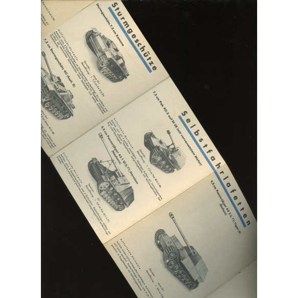 German panzer recognition card 1943