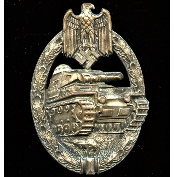 Panzer assault badge in silver by C.E. Juncker CUPAL