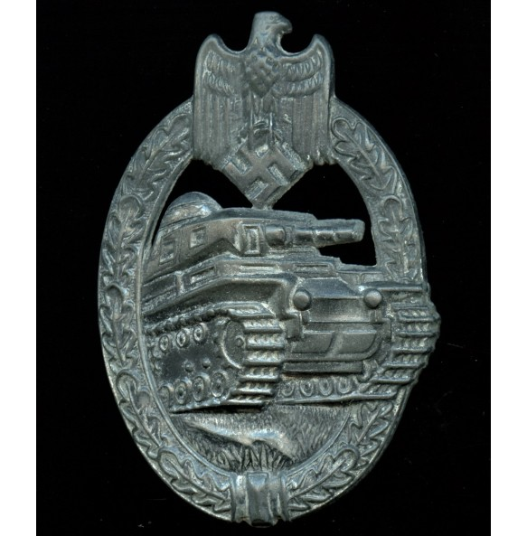 "Panzer Assault Badge in silver by Rudolf Karneth ""R.K."""