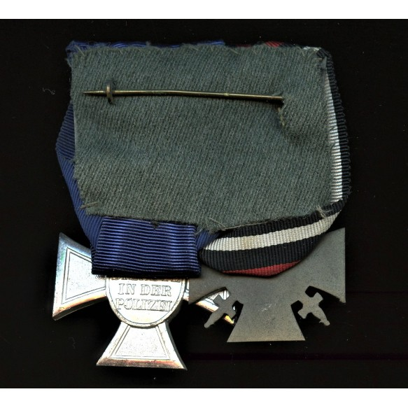 Polizei 18 year service medal bar + photos of owner