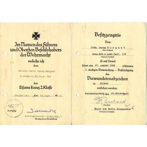Document grouping to Uffz. G. Morguet, A.R.389, WIA Stalingrad!!!