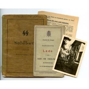 SS Soldbuch to SS-Pz Gren. F. Lambrecht, Freiw. Div. Langemarck!
