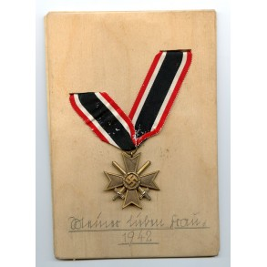 """War Merit Cross 2nd class """"Meine liebe Frau 1942"""""""