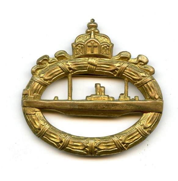 WW1 Imperial U-Boat badge, hollow back!