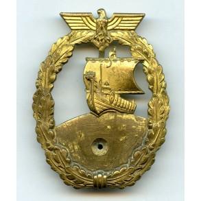 Kriegsmarine auxiliary cruiser badge by Schwerin Berlin
