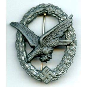"""Luftwaffe airgunner badge by F. Linden """"FLL"""""""
